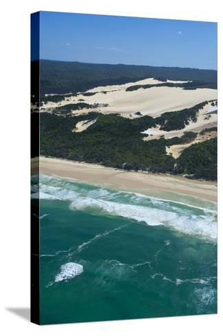 Aerial of the Seventy-Five Mile Beach, Fraser Island, UNESCO Site, Queensland, Australia-Michael Runkel-Stretched Canvas Print