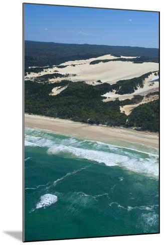 Aerial of the Seventy-Five Mile Beach, Fraser Island, UNESCO Site, Queensland, Australia-Michael Runkel-Mounted Photographic Print