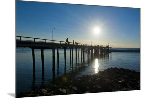 Pier at Sunset at Fraser Island, UNESCO World Heritage Site, Queensland, Australia, Pacific-Michael Runkel-Mounted Photographic Print