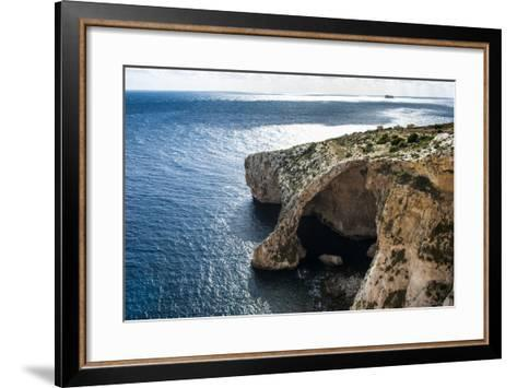 The Landscape around the Blue Grotto, Malta, Mediterranean, Europe-Michael Runkel-Framed Art Print