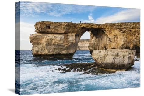 Famous Sea Arch, the Azure Window, Gozo, Malta, Mediterranean, Europe-Michael Runkel-Stretched Canvas Print