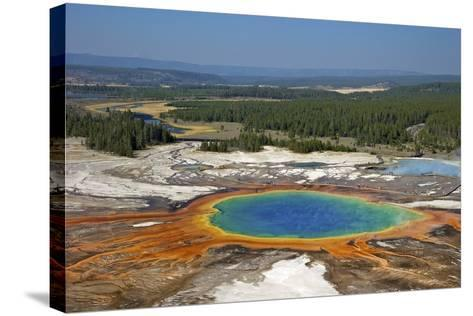 Grand Prismatic Spring, Midway Geyser Basin, Yellowstone Nat'l Park, UNESCO Site, Wyoming, USA-Peter Barritt-Stretched Canvas Print