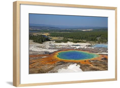 Grand Prismatic Spring, Midway Geyser Basin, Yellowstone Nat'l Park, UNESCO Site, Wyoming, USA-Peter Barritt-Framed Art Print