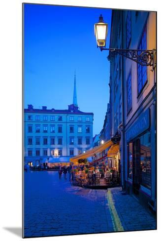 Stortorget Square Cafes at Dusk, Gamla Stan, Stockholm, Sweden, Scandinavia, Europe-Frank Fell-Mounted Photographic Print
