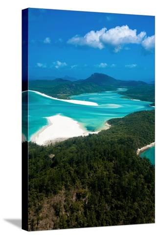 Aerial of Whitehaven in the Whit Sunday Islands, Queensland, Australia, Pacific-Michael Runkel-Stretched Canvas Print