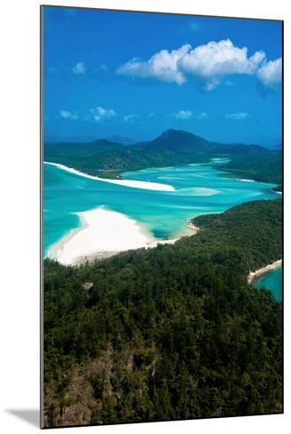 Aerial of Whitehaven in the Whit Sunday Islands, Queensland, Australia, Pacific-Michael Runkel-Mounted Photographic Print