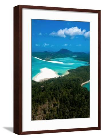 Aerial of Whitehaven in the Whit Sunday Islands, Queensland, Australia, Pacific-Michael Runkel-Framed Art Print