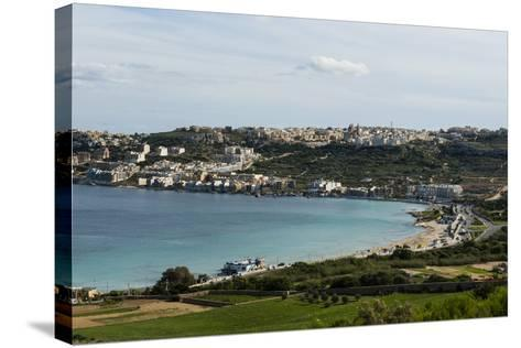 Bay of Il-Mellieha, Malta, Mediterranean, Europe-Michael Runkel-Stretched Canvas Print