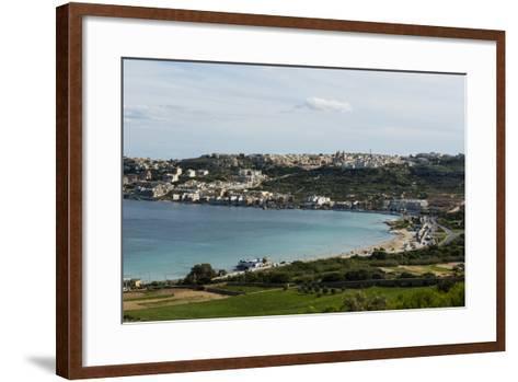 Bay of Il-Mellieha, Malta, Mediterranean, Europe-Michael Runkel-Framed Art Print
