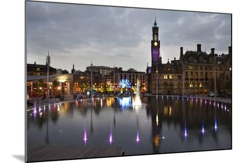 Bradford City Park and Garden of Light Display, Centenary Sq, Bradford, West Yorkshire, England, UK-Mark Sunderland-Mounted Photographic Print