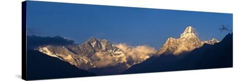 Mount Lhotse, 8501 Metres and Mount Ama Dablam, 6856 Metres,, Khumbu (Everest) Region, Nepal-Ben Pipe-Stretched Canvas Print