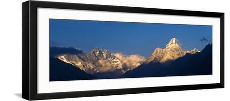Mount Lhotse, 8501 Metres and Mount Ama Dablam, 6856 Metres,, Khumbu (Everest) Region, Nepal-Ben Pipe-Framed Art Print
