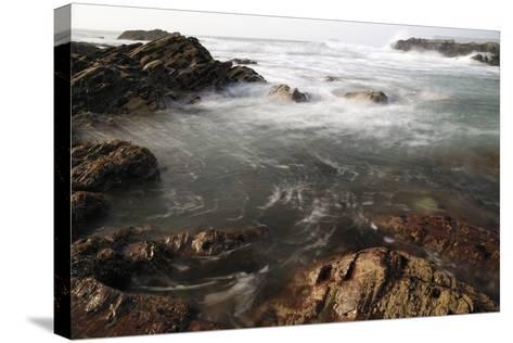 Sea Swirling around Rocks, Near Polzeath, Cornwall, England, United Kingdom, Europe-Nick Upton-Stretched Canvas Print