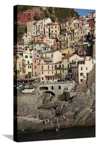 Manarola, One of Five Towns in the Cinque Terre in Northern Italy-Scott S^ Warren-Stretched Canvas Print