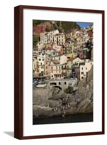 Manarola, One of Five Towns in the Cinque Terre in Northern Italy-Scott S^ Warren-Framed Art Print
