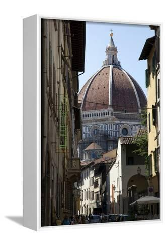 The Duomo Seen Through a Side Street in Florence, Italy-Scott S^ Warren-Framed Canvas Print