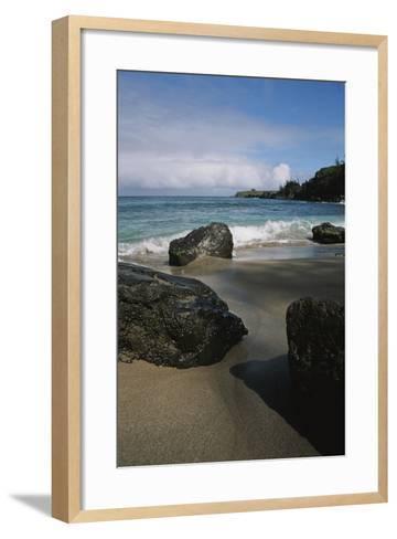 Volcanic Beach Rocks Along the West Coast of Maui-Marc Moritsch-Framed Art Print