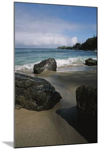 Volcanic Beach Rocks Along the West Coast of Maui-Marc Moritsch-Mounted Photographic Print