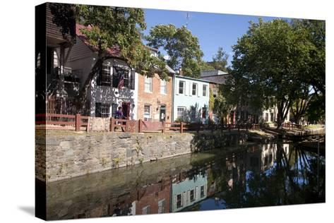 The C&O Canal Towpath in Georgetown, District of Columbia-Skip Brown-Stretched Canvas Print