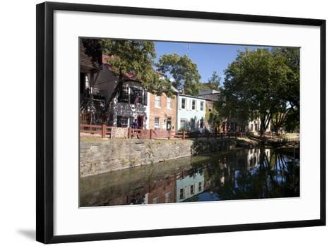 The C&O Canal Towpath in Georgetown, District of Columbia-Skip Brown-Framed Art Print