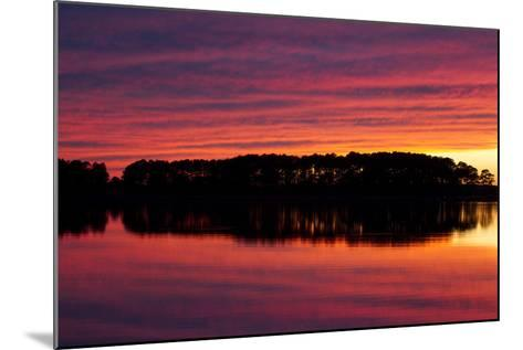 A Colorful Evening Sky over the Chesapeake Shoreline Near Kent Island-Skip Brown-Mounted Photographic Print
