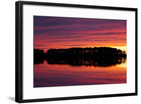 A Colorful Evening Sky over the Chesapeake Shoreline Near Kent Island-Skip Brown-Framed Art Print
