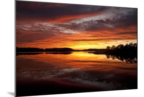 Sunset over a Chesapeake Bay Shoreline-Skip Brown-Mounted Photographic Print