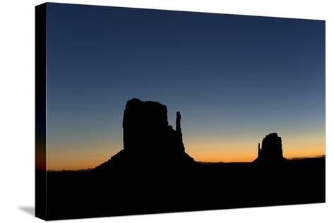 Silhouetted Rock Formations at Dawn-Norbert Rosing-Stretched Canvas Print