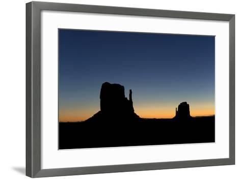 Silhouetted Rock Formations at Dawn-Norbert Rosing-Framed Art Print