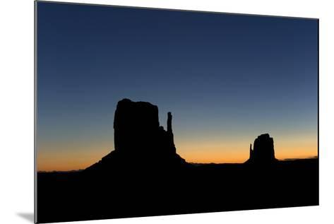Silhouetted Rock Formations at Dawn-Norbert Rosing-Mounted Photographic Print