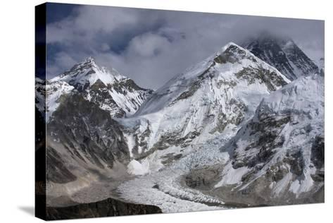 The Khumbu Icefall on the Way Up to Mount Everest-Jonathan Irish-Stretched Canvas Print