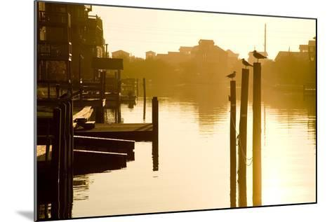 Sunrise Along the Channels Lined with Vacation Houses-Stephen St^ John-Mounted Photographic Print