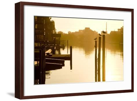 Sunrise Along the Channels Lined with Vacation Houses-Stephen St^ John-Framed Art Print