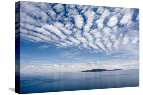 Clouds over Lake Titicaca and Taquile Island, in the Distance-Jonathan Irish-Stretched Canvas Print