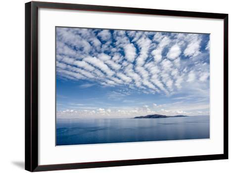 Clouds over Lake Titicaca and Taquile Island, in the Distance-Jonathan Irish-Framed Art Print