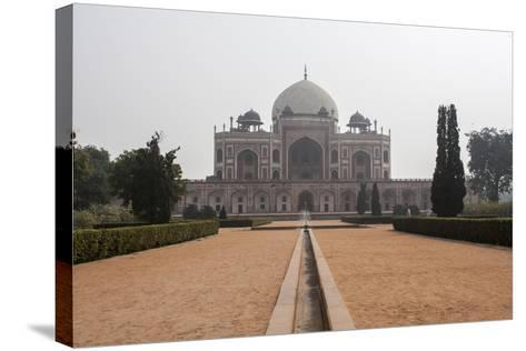 The Tomb of the Mughal Emperor Humayun, a UNESCO World Heritage Site-Jonathan Irish-Stretched Canvas Print