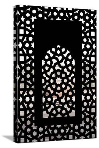 A Screened Window at the Tomb of the Mughal Emperor Humayun-Jonathan Irish-Stretched Canvas Print