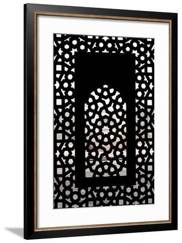 A Screened Window at the Tomb of the Mughal Emperor Humayun-Jonathan Irish-Framed Art Print