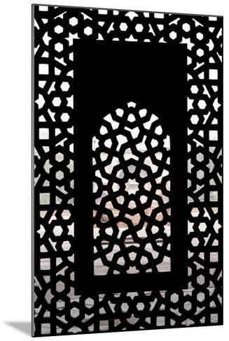 A Screened Window at the Tomb of the Mughal Emperor Humayun-Jonathan Irish-Mounted Photographic Print