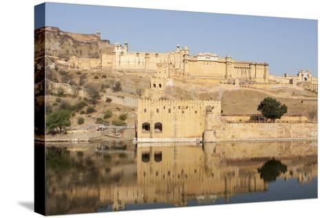 Amer Fort and its Reflection in Water-Jonathan Irish-Stretched Canvas Print