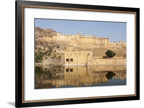 Amer Fort and its Reflection in Water-Jonathan Irish-Framed Art Print