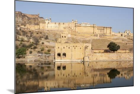 Amer Fort and its Reflection in Water-Jonathan Irish-Mounted Photographic Print
