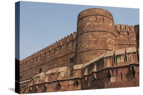 A Low Angle View of Agra Fort-Jonathan Irish-Stretched Canvas Print