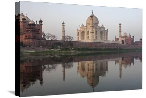 The Taj Mahal, and its Reflection in the Yamuna River-Jonathan Irish-Stretched Canvas Print
