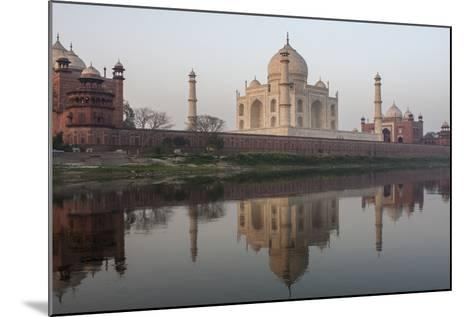 The Taj Mahal, and its Reflection in the Yamuna River-Jonathan Irish-Mounted Photographic Print