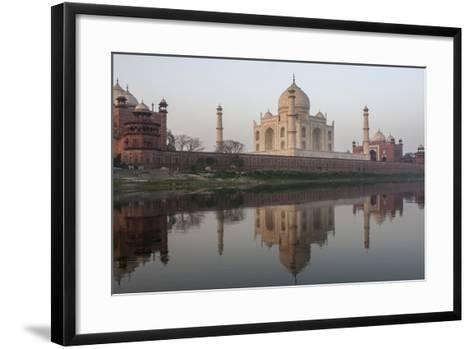 The Taj Mahal, and its Reflection in the Yamuna River-Jonathan Irish-Framed Art Print
