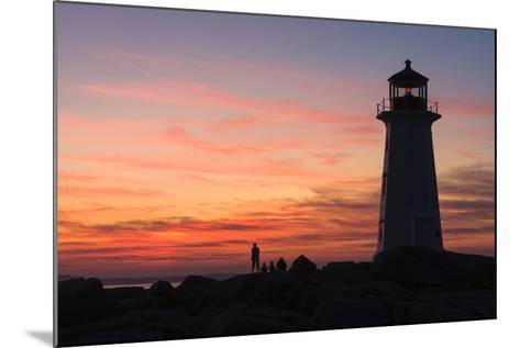 Peggy's Point Lighthouse in Silhouette at Sunset-Jonathan Irish-Mounted Photographic Print