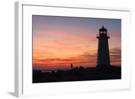 Peggy's Point Lighthouse in Silhouette at Sunset-Jonathan Irish-Framed Art Print