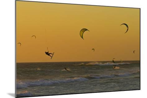 Kite Surfers at Sunset-Ralph Lee Hopkins-Mounted Photographic Print