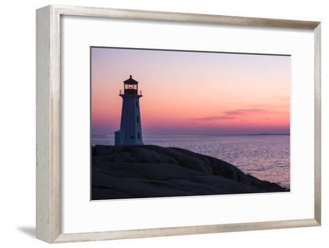 Peggy's Point Lighthouse and Rocky Coast at Dusk-Jonathan Irish-Framed Art Print